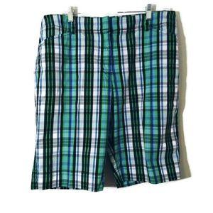Jones New York plaid shorts 14